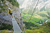 Via Ferrata, Murren, Bernese Oberland, Swiss Alps, Switzerland, Europe