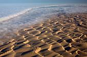 Aerial of sand dunes, Skeleton Coast Park, Namib Desert, Namibia, Africa