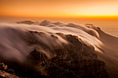 Clouds over Table Mountain, Cape Town, South Africa, Africa