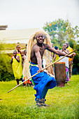 Dancers, Bwindi Impenetrable Forest National Park, Uganda, East Africa, Africa