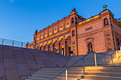 Illuminated Kunsthalle (Art Museum) at dusk, Hamburg, Germany, Europe