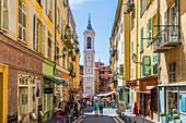 Die Kathedrale von Saint Reparata in der Altstadt, Nizza, Alpes Maritimes, Côte d'Azur, Französische Riviera, Provence, Frankreich, Mittelmeer, Europa