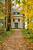 Biedermann Mausoleum, Thürmsdorf, Elbe Sandstone Mountains, Saxon Switzerland National Park, Saxon Switzerland, Saxony, Germany