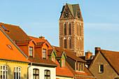 Turm der Marienkirche, Wismar, Mecklenburg-Vorpommern, Deutschland