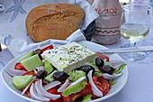 Choriatiki, Greek farmer's salad, Kardamaina, Kos Island, Dodecanese