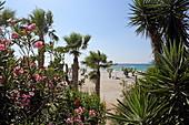 Strand in Mastichari an der Nordküste der Insel Kos, Dodekanes
