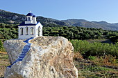 Representation of a chapel in Zia, Dikeon Mountains, Kos Island, Dodecanese
