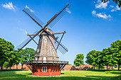 Windmill at Kastellet (The Citadel), star-shaped 17th-century fortress. One of the best preserved fortresses in Northern Europe, Copenhagen, Zealand, Denmark