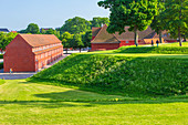 Kastellet (The Citadel), star-shaped 17th-century fortress. One of the best preserved fortresses in Northern Europe, Copenhagen, Zealand, Denmark