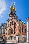 Builded in 1883 St. Alexander Nevsky Russian Orthodox church, Copenhagen, Zealand, Denmark