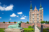 Rosenborg Castle, 17th century palace builded in a style of Dutch Renaissance. Royal museum housing the crown jewels, Copenhagen, Zealand, Denmark