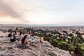 Abendstimmung am Areopag, Marshügel, Athen, Griechenland
