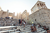 Visitors to the Acropolis, Athens, Greece