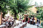 Street restaurants in Athens Greece