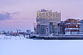 Elbe Philharmonic Hall in winter, HafenCity, Free Hanseatic City of Hamburg, Northern Germany, Germany, Europe