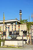 Rueff Textilfabrik gestaltet von Friedensreich Hundertwasser in Muntlix, Vorarlberg, Österreich, Europa