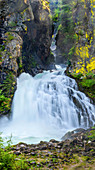 Reinbach Falls, the waterfall, natural monument in the Ahrntal, South Tyrol, Italy