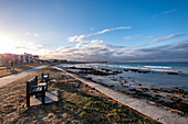 Sunset on Port Elizabeth beach, South Africa, Africa