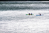 Kayakers in the Leisure Island Lagoon, Knysna, Garden Route, South Africa, Africa