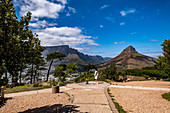 View from Signal Hill to Table Mountain and Lions Head in Cape Town, South Africa, Africa