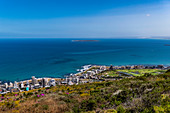 View from Signal Hill to Robben Island and Cape Town, South Africa, Africa
