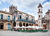 Cafe at Plaza de la Catedral in Havana, Cuba