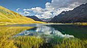 Lac du Pontet, Montagne des Agneaux, La Meije, Rhones Alpes, Hautes-Alpes, France
