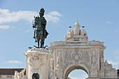 Dom José I Statue, Praça do Comércio, Lissabon, Portugal