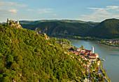 Wachau, view towards Dürnstein, Danube, Lower Austria, Austria