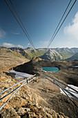Blick aus der Seilbahn, Diavolezza, Graubünden, Schweiz
