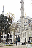 Exterior of the Blue Mosque in Istanbul, Turkey