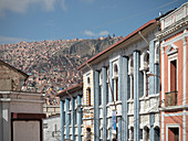 historic houses in old town of La Paz, Bolivia, Andes, South America