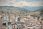 View of extensive urban expanse from La Paz, Andes, Bolivia, South America