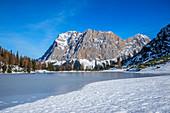 Seebensee mit Zugspitze, Mieminger Berge, Ehrwald, Tirol, Österreich