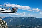 Viewing platform Alpspitzbahn, Garmisch-Partenkirchen, Werdenfelser Land, Wetterstein Mountains, Bavaria, Germany