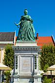 Maria Theresia Statue auf dem Neuen Platz, Klagenfurt, Kärnten, Österreich