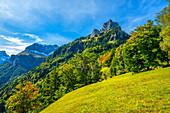 Aufstieg zum Niederbauen-Chulm, Vierwaldtätter See Gebiet, Kanton Uri, Schweiz