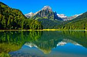 Obersee mit Brünnelistock, Glarner Alpen, Kanton Glarus, Schweiz