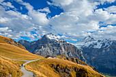 First with First Sky-Walk, Wetterhorn and Schreckhorn, Grindelwald, Bernese Oberland, Canton of Bern, Switzerland