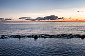View of the Atlantic Ocean on the coast of El Remo at sunset, La Palma, Canary Islands, Spain, Europe