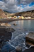 View of Tazacorte, in the background the Caldera de Taburiente, La Palma, Canary Islands, Spain, Europe