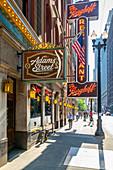 Ansicht des Berghoff Restaurant außen, Innenstadt von Chicago, Illinois, Vereinigte Staaten von Amerika, Nordamerika