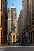 View of Chicago Board of Trade building, Downtown Chicago, Illinois, United States of America, North America