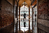 St. Mark's Square flooded by high tide, Venice, UNESCO World Heritage Site, Veneto, Italy, Europe