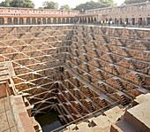 Chand Baori stepwell, Abhaneri, Jaipiur, Rajasthan, India, Asia