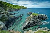 Rugged Devon coast near Morte Point, North Devon, England, United Kingdom, Europe