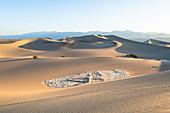 Mesquite Flat Sanddünen im Death Valley National Park, Kalifornien, Vereinigte Staaten von Amerika, Nordamerika