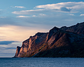 Abendlicht auf Devil's Teeth Mountains, Senja, Norwegen, Skandinavien, Europa