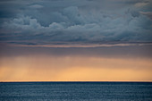 Sunset over Norwegian fjord, Senja, Norway, Scandinavia, Europe