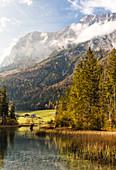 Hintersee im Herbst, Berchtesgaden, Bayern, Deutschland